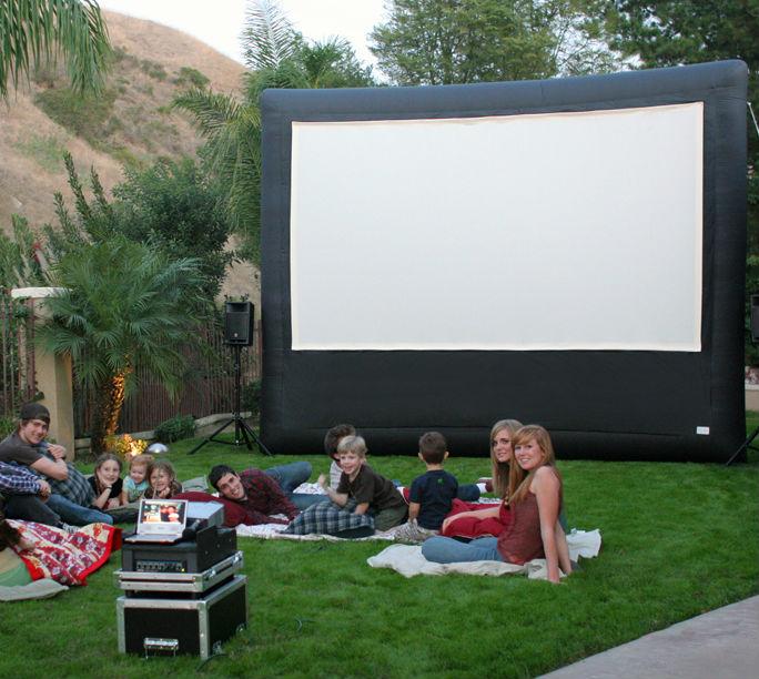 outdoor movie rental inflatable screen rental outdoor